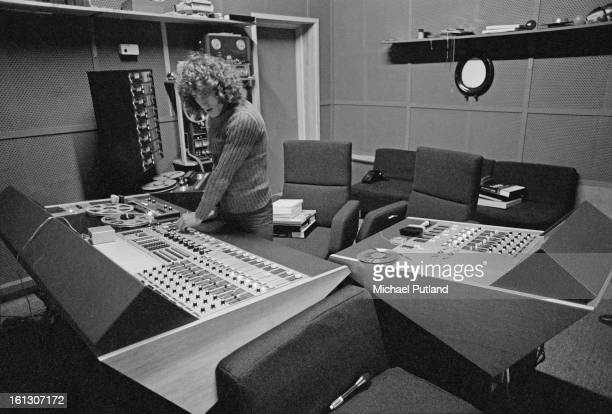 Singer Roger Daltrey of The Who in a recording studio in a barn at his home Holmshurst Manor in Burwash East Sussex 23rd November 1972