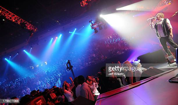 Singer Roger Daltrey of The Who performs onstage at the 2008 VH1 Rock Honors honoring The Who at UCLA's Pauley Pavilion on July 12 2008 in Los...