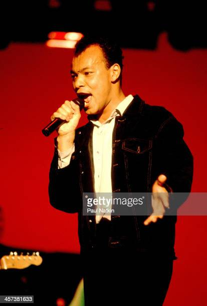 Singer Roland Gift of the Fine Young Cannibals performs Chicago Illinois September 10 1989