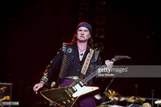 Singer Rolf Kasparek aka Rock n Rolf of the German band Running Wild performs live on stage during the Wacken Open Air festival on August 3, 2018 in...