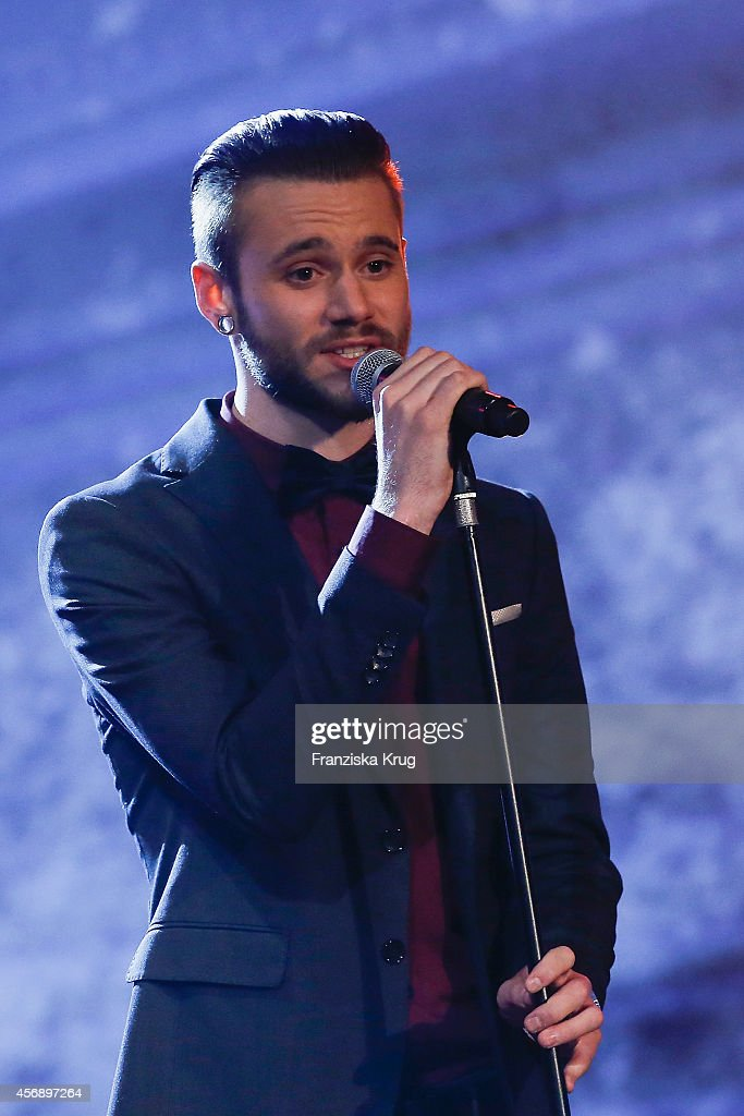 Singer Roman Lob performs during the Tribute To Bambi 2014 show on September 25, 2014 in Berlin, Germany.