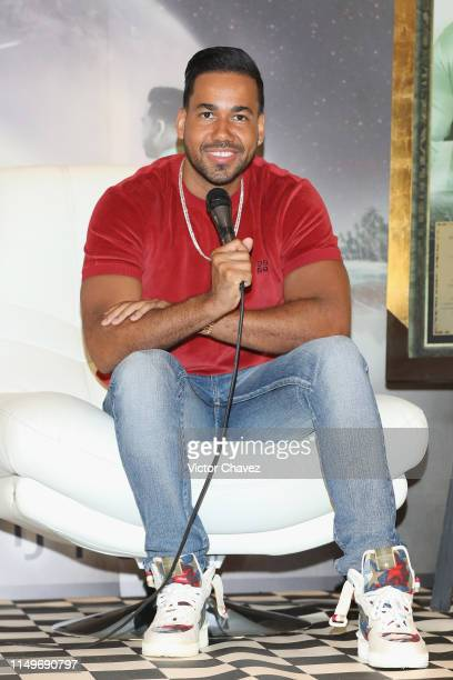Singer Romeo Santos attends a press conference to promote his new album Utopia at JW Marriot hotel on June 13 2019 in Mexico City Mexico