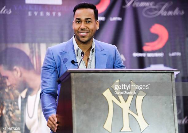 Singer Romeo Santos attends Romeo Santos' 'Formula Vol 2' Album Release Press Conference at Yankee Stadium on February 24 2014 in New York City