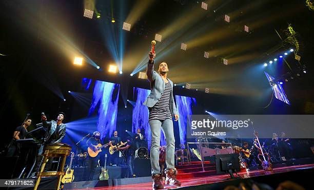 Singer Romeo Santos performs at Sprint Center on June 13 2015 in Kansas City Missouri