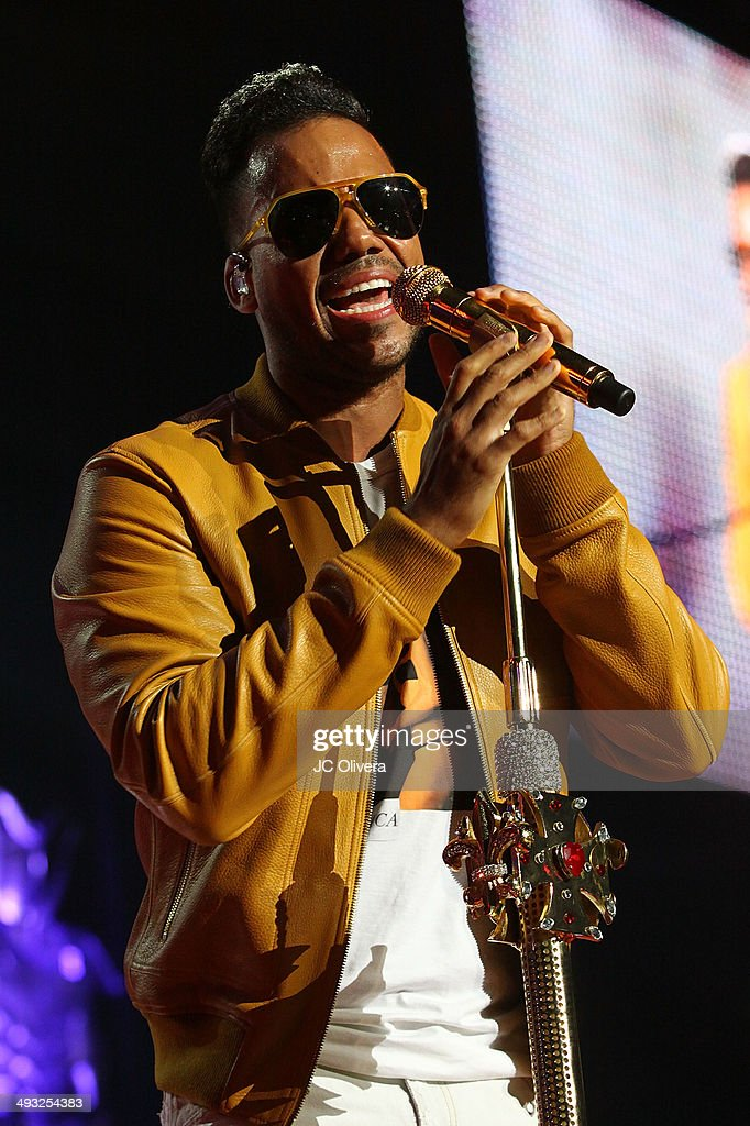 Singer Romeo Santos performs on stage at Staples Center on May 22, 2014 in Los Angeles, California.