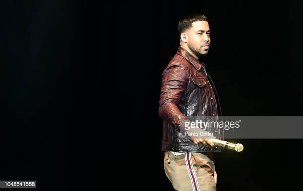 Singer Romeo Santos performs onstage during his 'Golden Tour' at Infinite Energy Center on October 9 2018 in Duluth Georgia