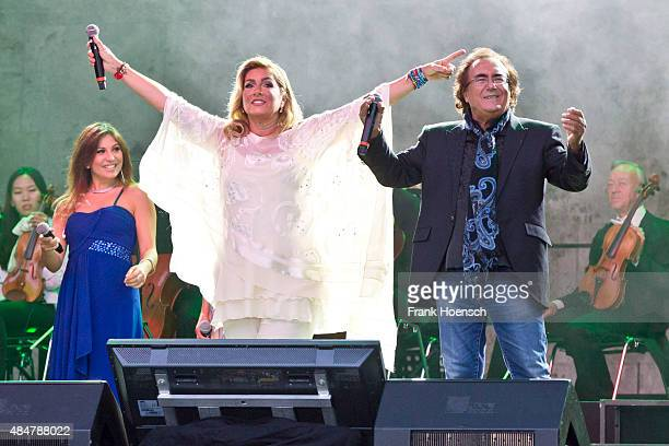 Singer Romina Power and Al Bano perform live during a concert at the Waldbuehne on August 21 2015 in Berlin Germany