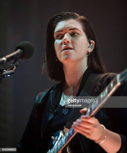 Singer Romy Madley Croft of the British band The xx performs live during a concert at the Arena on February 25 2017 in Berlin Germany