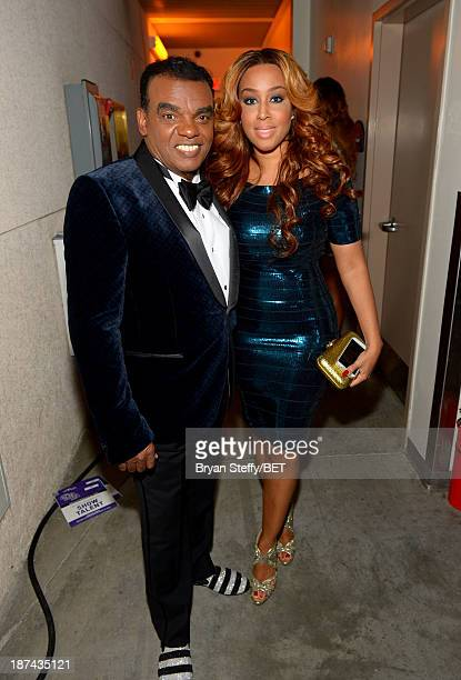 Singer Ronald Isley and Kandy Johnson attend the Soul Train Awards 2013 at the Orleans Arena on November 8 2013 in Las Vegas Nevada