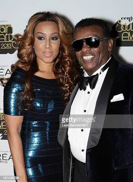 Singer Ronald Isley and Kandy Johnson Isley attend the Soul Train Awards 2013 at the Orleans Arena on November 8 2013 in Las Vegas Nevada