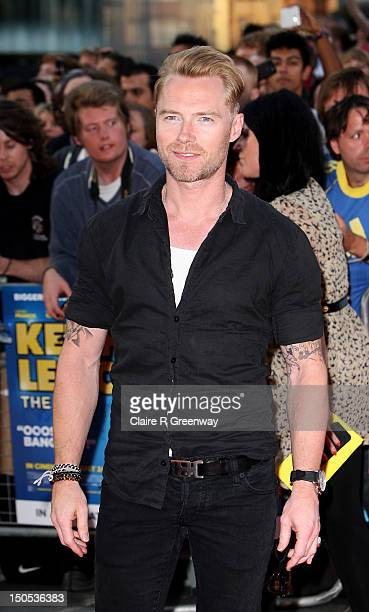 Singer Ronan Keating arrives at the world premiere of 'Keith Lemon The Film' at Odeon West End on August 20 2012 in London England