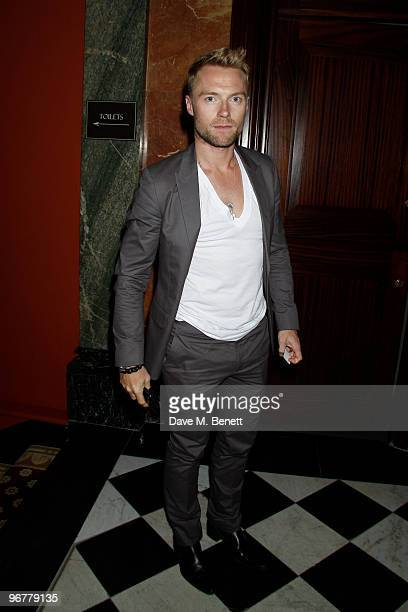 Singer Ronan Keating attends the Brit Awards after party held by Universal at the Mandarin Oriental Hotel on February 16 2010 in London England