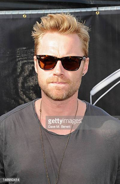 Singer Ronan Keating attends the RayBan Rooms during day three of the Isle of Wight Festival at Seaclose Park on June 24 2012 in Newport Isle of Wight