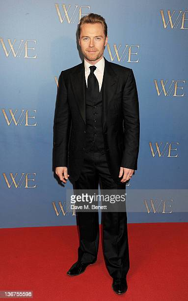 Singer Ronan Keating attends the UK premiere of 'WE' at Kensington Odeon on January 11 2012 in London England