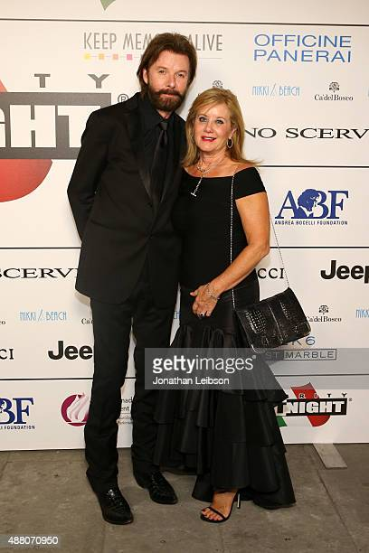 Singer Ronnie Dunn and Janine Dunn attend the Celebrity Fight Night gala at Palazzo Vecchio during 2015 Celebrity Fight Night Italy benefiting the...