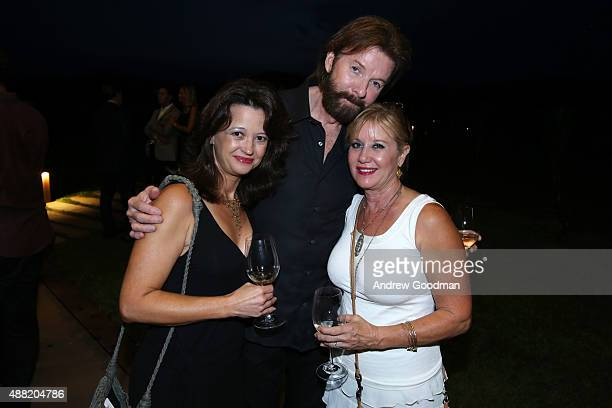 Singer Ronnie Dunn and Janine Dunn attend the closing night reception at Antinori nel Chianti Classico winery during 2015 Celebrity Fight Night Italy...