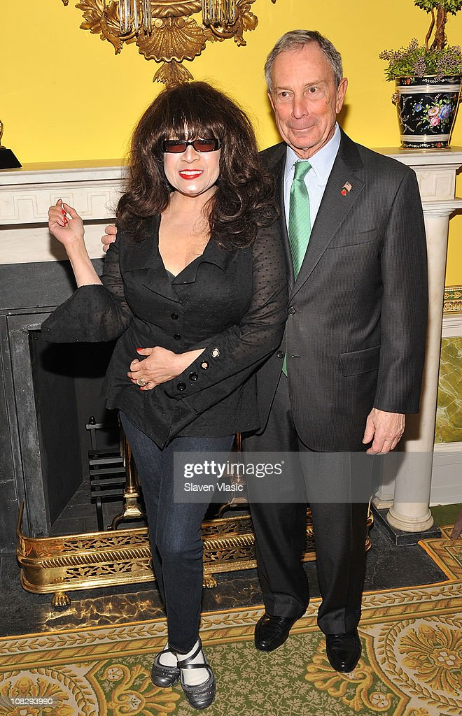 Singer Ronnie Spector and NYC Mayor Michael Bloomberg attend the Recording Academy New York Chapter's 53rd GRAMMY Award Nominees Reception at Gracie Mansion on January 20, 2011 in New York City.