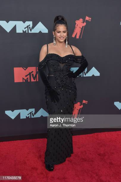 Singer Rosalia attends the 2019 MTV Video Music Awards red carpet at Prudential Center on August 26 2019 in Newark New Jersey