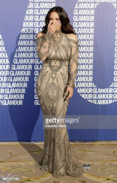 Singer Rosalia attends the Glamour Magazine Awards photocall at Ritz hotel on December 12 2017 in Madrid Spain