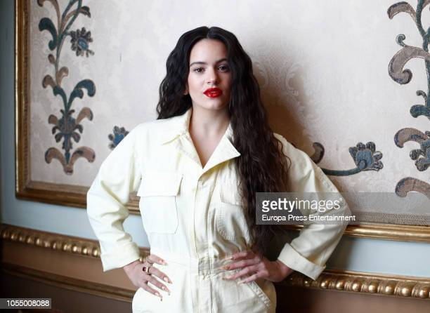 Singer Rosalia poses for a photo session on October 29 2018 in Madrid Spain