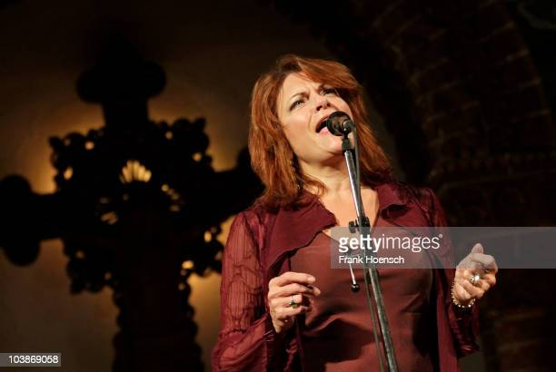 Singer Rosanne Cash performs live during a concert at the Passionskirche on September 06 2010 in Berlin Germany