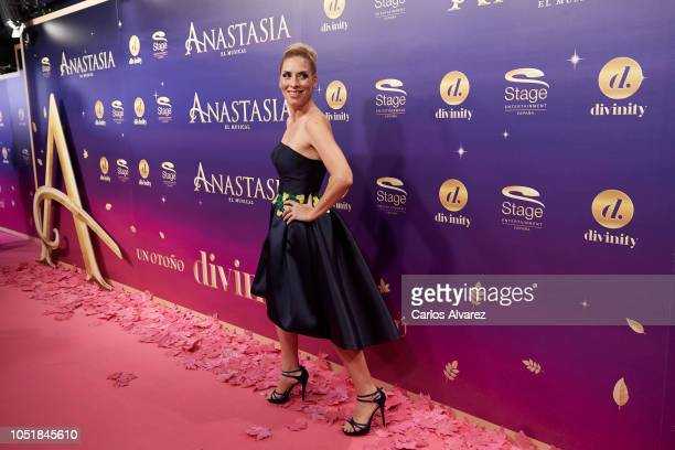 Singer Roser attends 'Anastasia The Musical' premiere at the Coliseum Teather on October 10 2018 in Madrid Spain