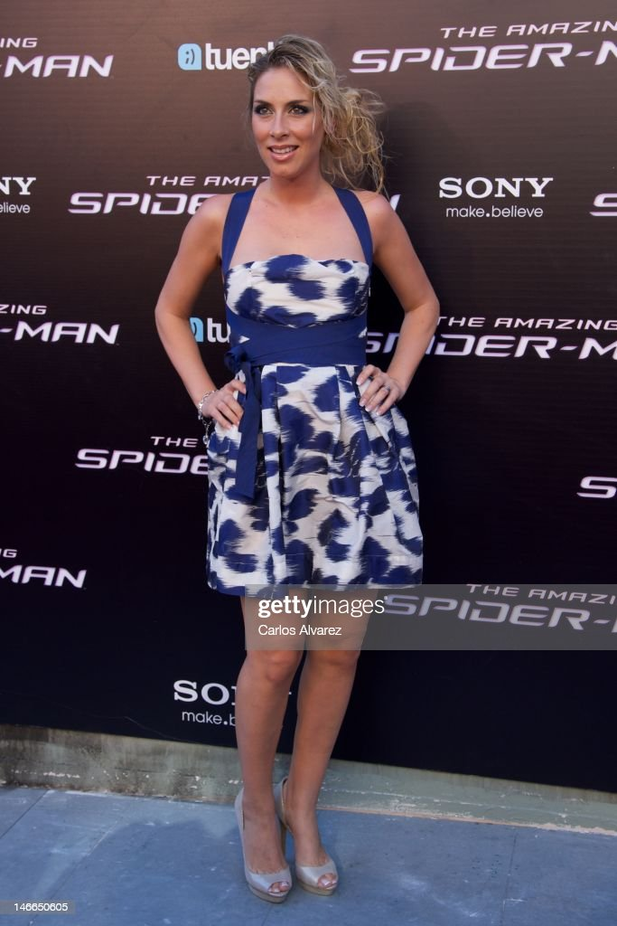 Singer Roser attends 'The Amazing Spider-Man' premiere at Callao cinema on June 21, 2012 in Madrid, Spain.