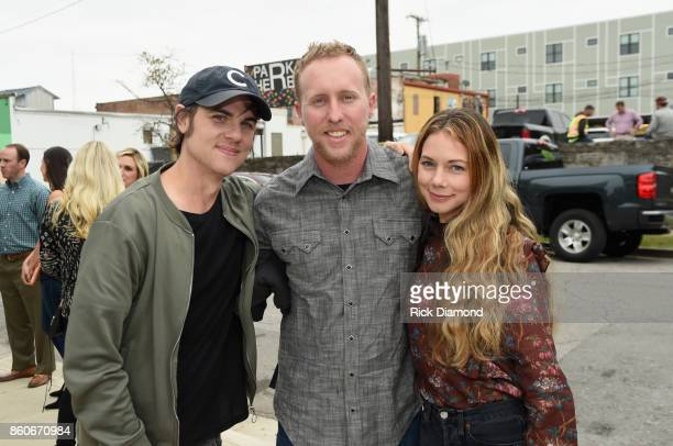 Singer Ross Copperman lone survivor of Yarnell Fire Brendan McDonough and Katlin Copperman attend 'Only The Brave' Nashville screening hosted by...