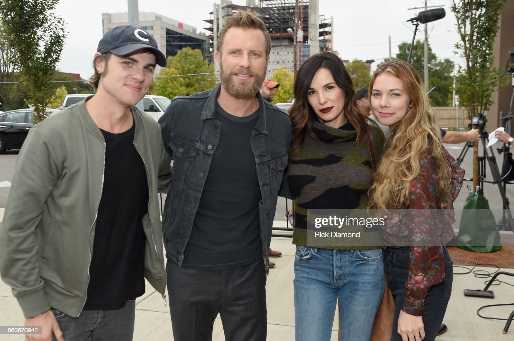 Singer Ross Copperman, singer-songwriter Dierks Bently, Cassidy Black and Katlin Copperman attends 'Only The Brave' Nashville screening hosted by Dierks Bentley at The Belcourt Theatre on October 12, 2017 in Nashville, Tennessee.
