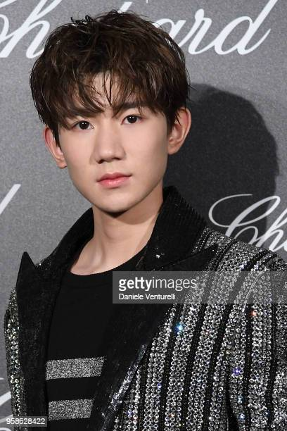 Singer Roy Wang attends the Chopard Trophy during the 71st annual Cannes Film Festival at Martinez Hotel on May 14 2018 in Cannes France