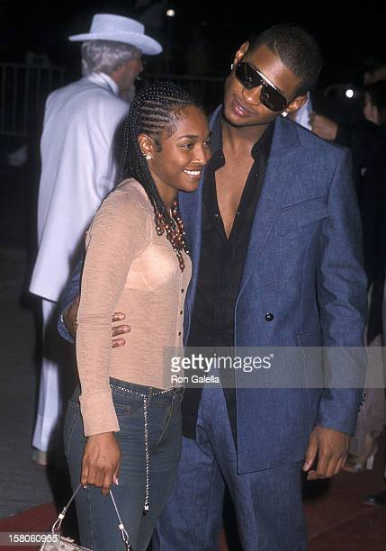 Singer Rozonda 'Chilli' Thomas of TLC and singer Usher attend the 'Michael Jackson 30th Anniversary Celebration' Concert Special on September 7 2001...