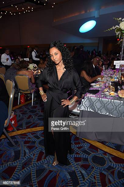Singer Rozonda 'Chilli' Thomas of TLC attends the 31st Annual UNCF Mayor's Masked Ball at Marriott Marquis Hotel on December 20 2014 in Atlanta...