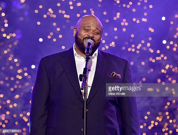 Singer Ruben Studdard performs onstage during the 2015 Hollywood Christmas Parade on November 29 2015 in Hollywood California
