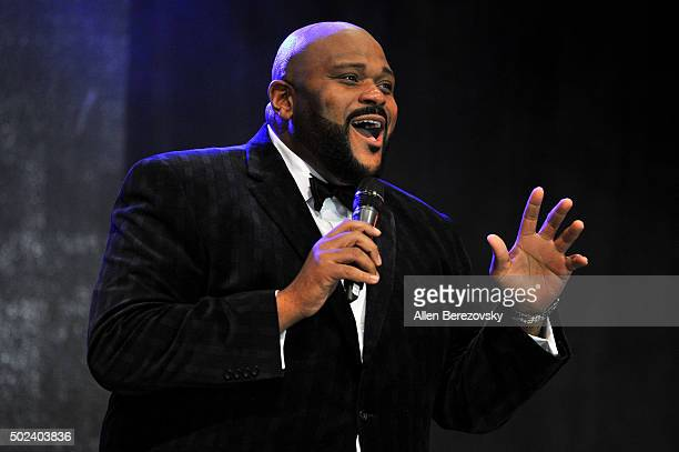 Singer Ruben Studdard performs onstage during the OC Christmas Extravaganza Concert and Ball at Christ Cathedral on December 23 2015 in Garden Grove...