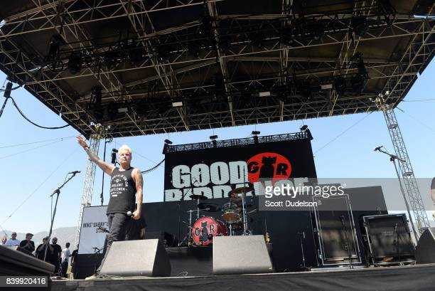 Singer Russ Rankin of the band Good Riddance performs onstage during the Its Not Dead 2 Festival at Glen Helen Amphitheatre on August 26 2017 in San...