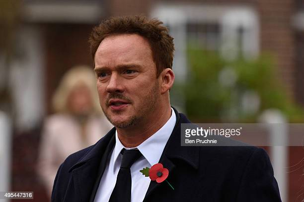 Singer Russell Watson arrives at the funeral of Kirsty Howard at All Angels Church on November 3 2015 in Manchester England Kirsty Howard was born...