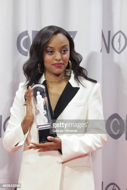 Singer Ruth B winner for breakthrough artist of the year poses in the press room during the 2017 Juno Awards held at Canadian Tire Centre on April 2...