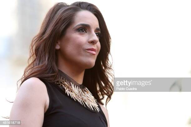 Singer Ruth Lorenzo attend the MADO 2014 gay parade opening speech at 'Chueca' on July 2, 2014 in Madrid, Spain.