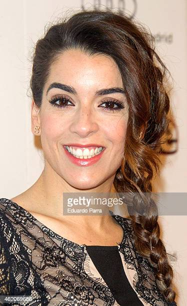 Singer Ruth Lorenzo attends 'Annie' photocall at Gran Via cinema on January 24 2015 in Madrid Spain
