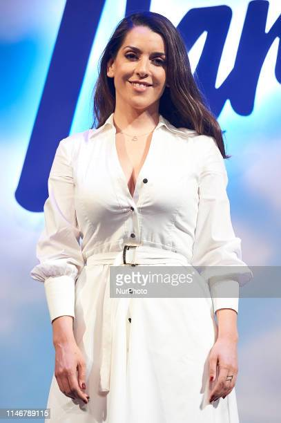 Singer Ruth Lorenzo during presentation of the new signings of theater play 'La Llamada' at Teatro Lara on May 28 2019 in Madrid Spain