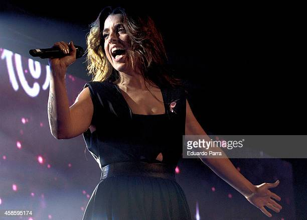 Singer Ruth Lorenzo performs at the 'Cadena 100 Por Ellas' concert gala at Barclaycard Center on November 7 2014 in Madrid Spain