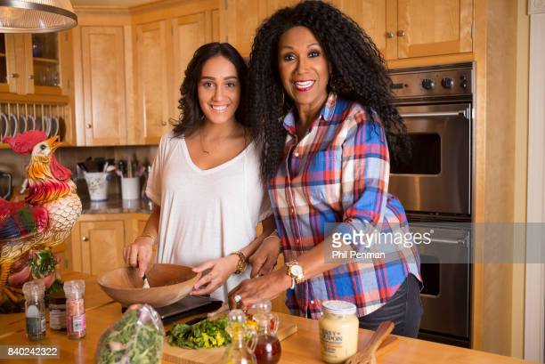 Singer Ruth Pointer and daughter Ali Sayles are photographed for Closer Weekly Magazine on January 18 2016 at home in Massachusetts