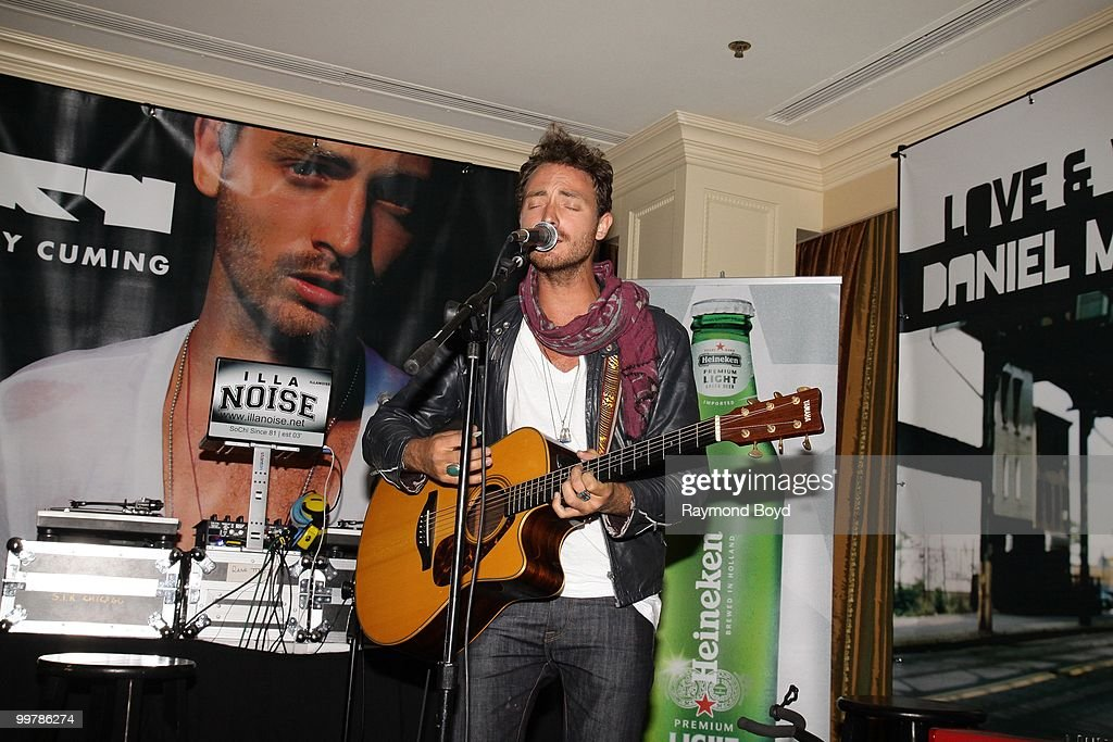 Singer Ry Cuming performs in the SonyMusic 'Speakeasy Suite' at the Hilton Chicago in Chicago, Illinois on MAY