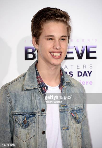 Singer Ryan Beatty arrives at the premiere of Open Road Films' 'Justin Bieber's Believe' at Regal Cinemas LA Live on December 18 2013 in Los Angeles...