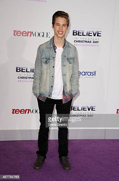 Singer Ryan Beatty attends 'Justin Bieber's Believe' world premiere at Regal Cinemas LA Live on December 18 2013 in Los Angeles California