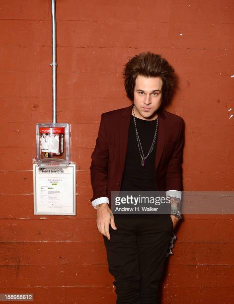 Singer Ryan Cabrera backstage at his concert at the Gramercy Theatre on January 4, 2013 in New York City.