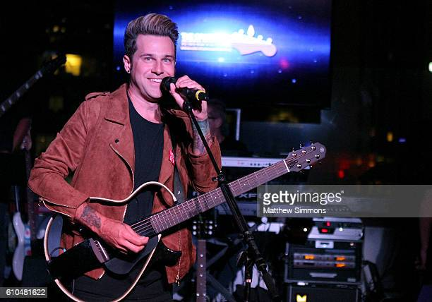 Singer Ryan Cabrera performs onstage during The Concert Across America To End Gun Violence at The Standard Hotel on September 25 2016 in Los Angeles...