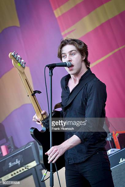 Singer Ryan Evan 'Van' McCann of the British band Catfish and the Bottlemen performs live on stage during the first day of Lollapalooza Festival at...