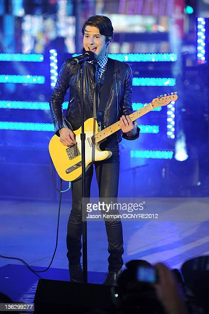 Singer Ryan Follese of Hot Chelle Rae performs onstage during Dick Clark's New Year's Rockin' Eve with Ryan Seacrest 2012 at Times Square on December...