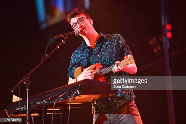 Singer Ryan Met of the band AJR performs onstage during day 1 of the KROQ Absolut Almost Acoustic Christmas 2018 at The Forum on December 08 2018 in...